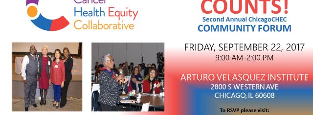 ChicagoCHEC Community Forum 2017 flyer (English)