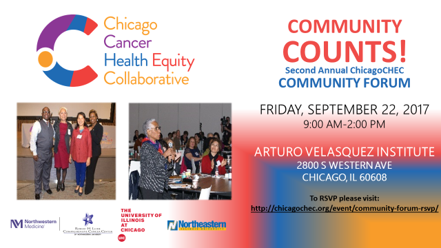 ChicagoCHEC Community Forum 2017 flyer (English)
