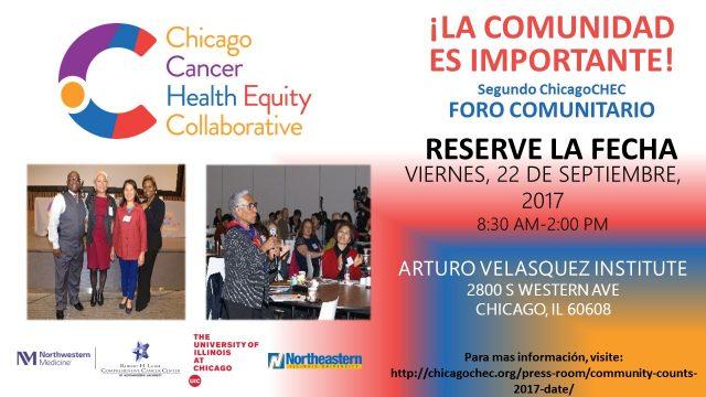 Segundo ChicagoCHEC Foro Comunitario - volante